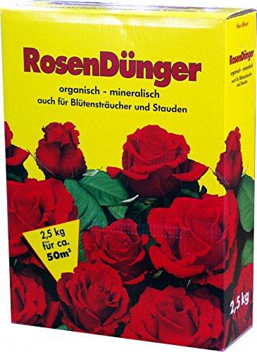 Rosendünger 2,5 kg Faltschachtel Rosen Dünger NPK-Dünger GPI Stauden