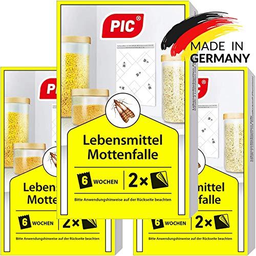 PIC Lebensmittel-Mottenfalle - Dreierpack = 6 Stück - Mittel zur Bekämpfung...