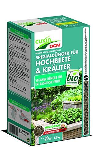 Cuxin Hochbeetdünger und Kräuterdünger 1,5 kg Bio - logisch VEGANER Dünger