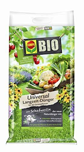 COMPO BIO Universal Langzeit-Dünger mit Schafwolle für alle Gartenpflanzen, 5...