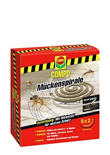 COMPO Mückenspirale, Schutz vor Stechmücken und Wespen, 10 Spiralen inkl....
