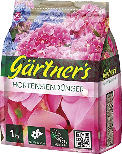 Gärtner´s Hortensiendünger, NPK 8+3+5 (+2) organisch-mineralisch, 1kg