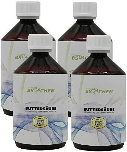 BS24CHEM 4x250ml (Artikelnr.287) Markenregistrierte Buttersäure für die...