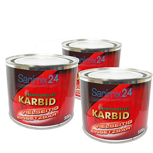 Sanimix24 1,5 Kg Karbid ALT BEWÄHRT & ERGIEBIG große Stücke für...