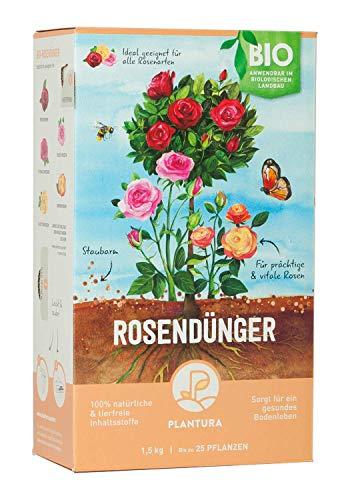 Plantura Bio Rosendünger mit 3 Monaten Langzeitwirkung für prächtige Rosen in...