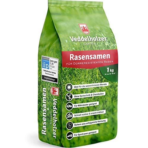 Veddelholzer Rasensamen dürreresistent für Trockenrasen & Schattenrasen Samen...