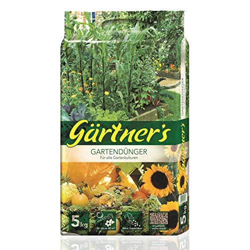 Gärtner's Gartendünger 5 kg I NPK Dünger für Obst, Gemüse, Stauden und...