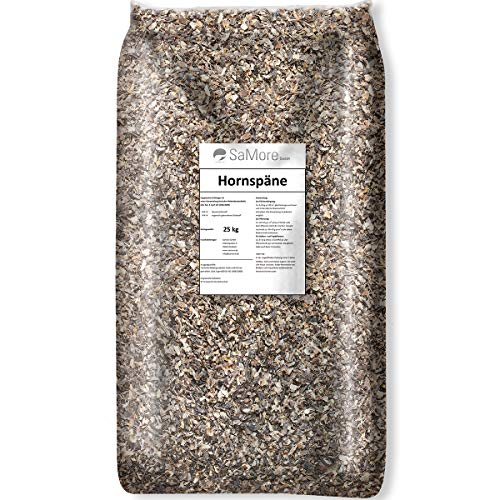 Samore 25 kg Hornspäne Naturdünger 100% natürlicher Dünger, Gartendünger...