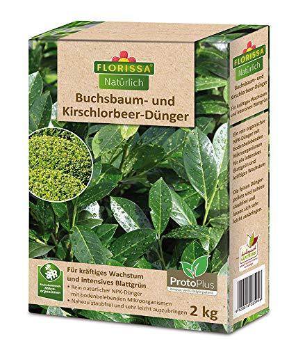 Florissa Natürlich BIO Buchsbaum- und Kirschlorbeer-Dünger | Unterstützt die...