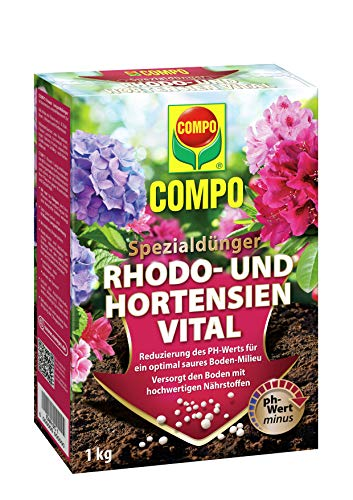 Compo Rhodo- und Hortensien Vital, Spezialdünger zur Reduzierung des pH-Wertes...