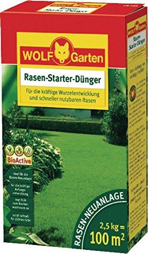 WOLF 100m² Starterdünger LH100 Rasendünger Dünger Rasen Rasaner Starter...