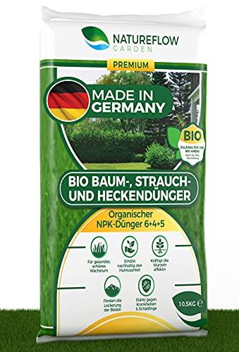 Natureflow Bio Baum-, Strauch-, Heckendünger 10,5kg - Gesundes, Schönes...