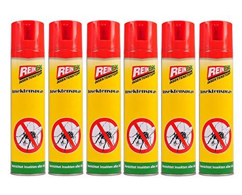 Reinex 6X Insektenspray 400ml Insektenstopp Mückenspray Fliegenspray...