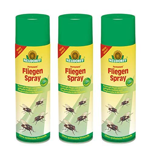 3 x 500 ml Neudorff Permanent FliegenSpray Insektenschutz