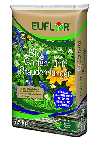 Euflor Bio Garten- und Staudendünger 7,5kg• Organischer NPK-Dünger...