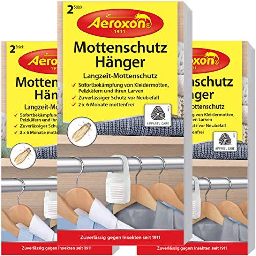 Aeroxon Mottenschutz-Hänger - 3x2 Stück - Verlässliche, starke und schnelle...