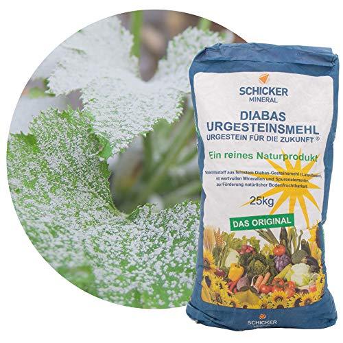 Schicker Mineral feines Diabas Urgesteinsmehl 25 kg, reines Gesteinsmehl für...