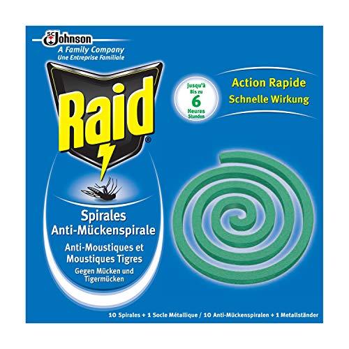Raid (Paral) Anti-Mücken-Spirale, Moskitospirale, Mückenabwehr, 4er Pack (4 x...