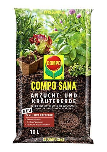 COMPO SANA Anzucht- und Kräutererde mit 6 Wochen Dünger für alle Jung- und...