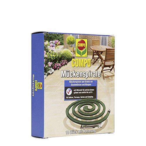 COMPO Mückenspirale, Schutz vor Stechmücken und Wespen, 10 Stück inkl....