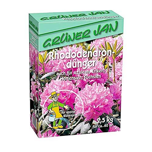 Grüner Jan Rhododendrondünger 2,5 kg Rhododendron Azaleen Hortensien Eriken...