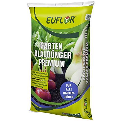 Euflor Garten Blaudünger Premium 10kg Sack•NPK-Dünger 15+5+20 mit 2% MgO und...