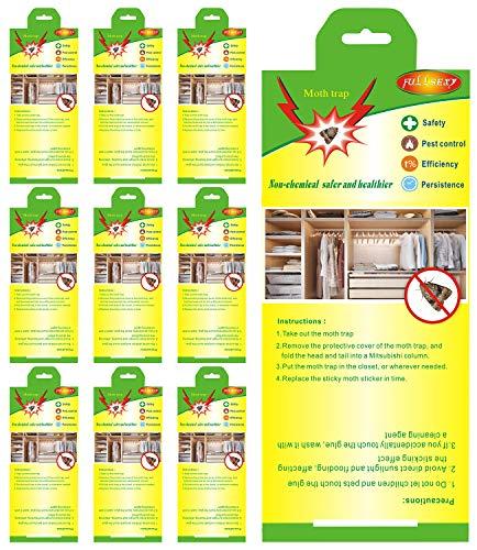 Fullsexy 10 Stück Mottenschutz Kleidermottenfalle Insektizidfreie Pheromonfalle...