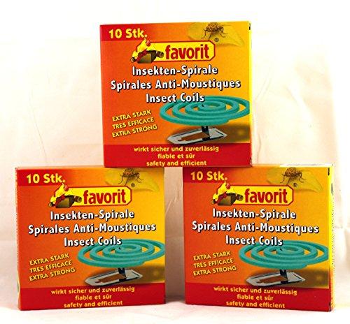 Anti-Mücken-Spiralen von favorit 40 Stück Mückenspirale Insektenspirale...