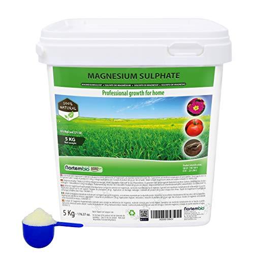 Nortembio Agro Natürliches Magnesiumsulfat 5 Kg. Universeller Dünger....