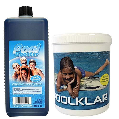 Konfitee Pool Klar und Pool Booster Set - Unterstützend gegen Algen sowie...