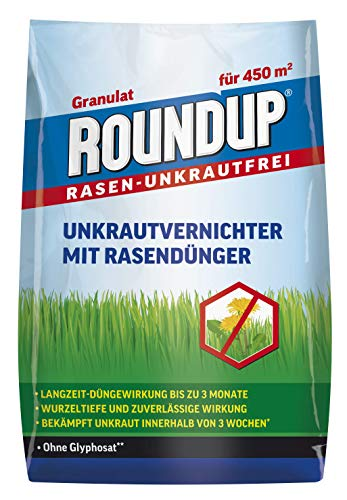 Roundup Rasen-Unkrautfrei Rasendünger, 2in1, Unkrautvernichter plus Dünger mit...