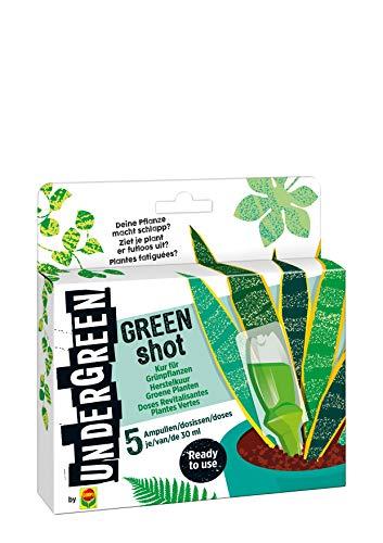 Undergreen by Compo Green Shot, Kur für Grünpflanzen und Palmen, Aufbaukur, 5...