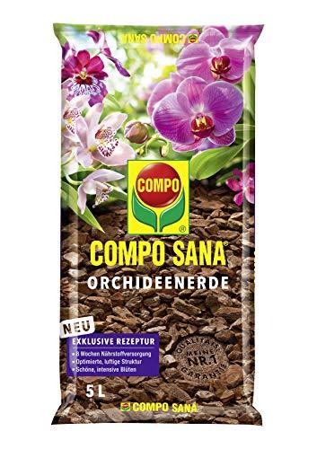 COMPO SANA Orchideenerde mit 8 Wochen Dünger für alle Orchideenarten,...