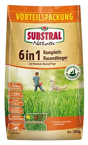 Substral Naturen 6in1 Komplett Rasendünger, Sofort und Langzeitwirkung,...