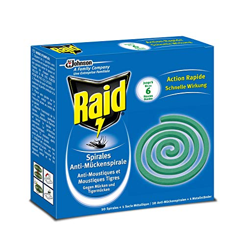 Raid Anti-Mückenspirale 10 Spiralen - Gegen Mücken und Tigermücken (1er Pack)
