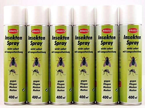 Insektenspray je 400ml (EUR 9,37/Liter) von BRAECO gegen Fliegen, Mücken und...