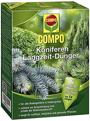 COMPO Koniferen Langzeit-Dünger für alle Arten von Nadelgehölzen und...